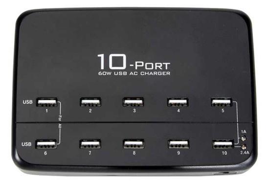 10-port USB laadimisjaam