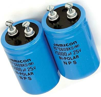 Jamicon capacitors fart of PASCO set EM8632